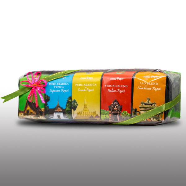 5-in-1 Coffee Giftset - Bamboo box Gift *5
