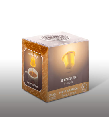 French roast coffee capsules from sinouk company!