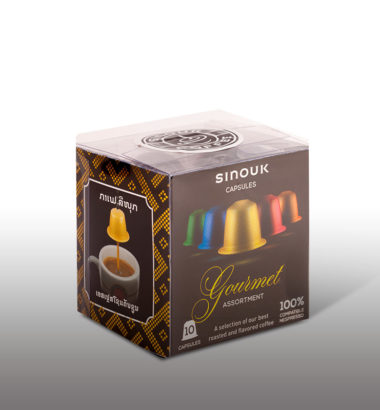 Sinouk coffee capsules many taste try in Vientiane!