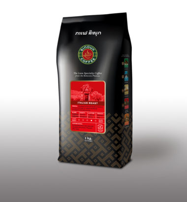 Italian Roast beans by Sinouk Coffee