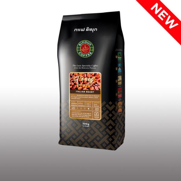 Honey Process Coffee beans by Sinouk Coffee