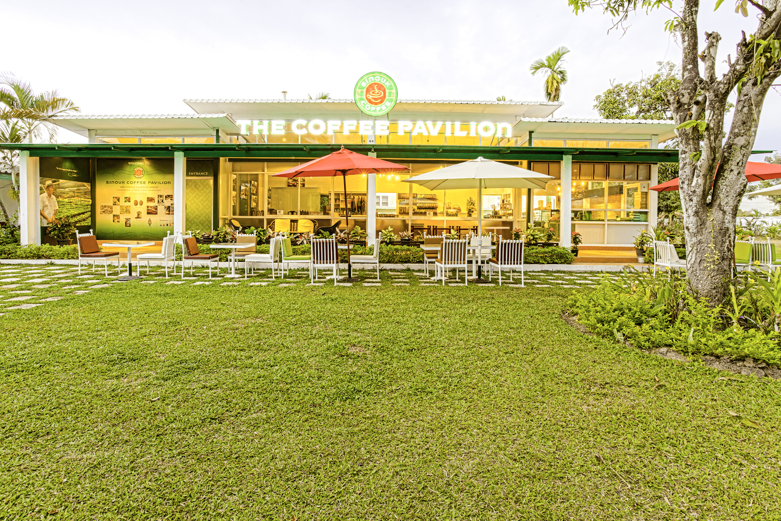 Sinouk Coffee Pavilion - The best coffee shops in Vientiane