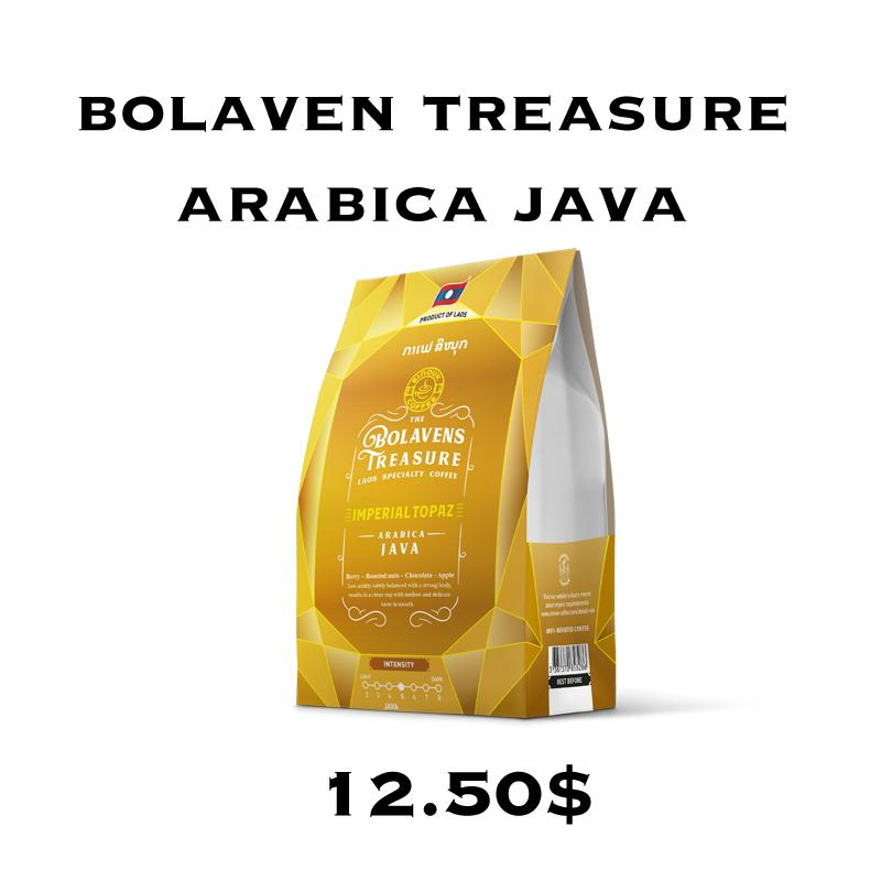 Bolavens Treasure - Imperial Topaz coffee by Sinouk Coffee