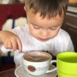 hot chocolate and child